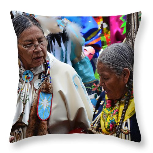 Pow Wow Throw Pillow featuring the photograph Portrait # 338 by Ed Hall