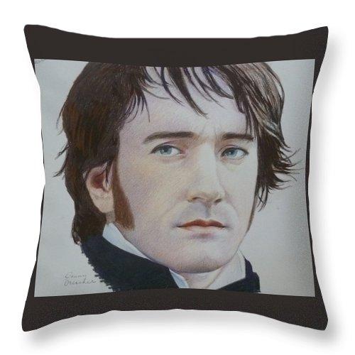Man Throw Pillow featuring the mixed media Portrait Of A Gentleman by Constance DRESCHER