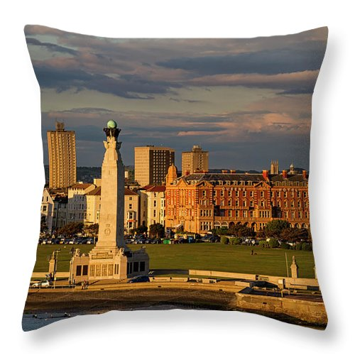 Harbor Throw Pillow featuring the photograph Portsmouth And Southsea England by Shirley Mitchell