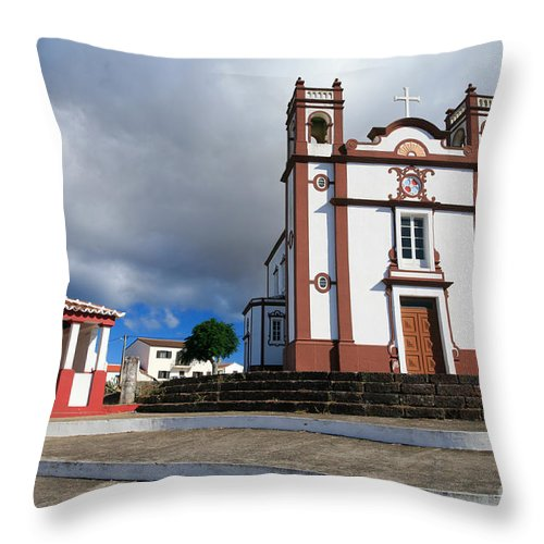 Architecture Throw Pillow featuring the photograph Portuguese Church by Gaspar Avila