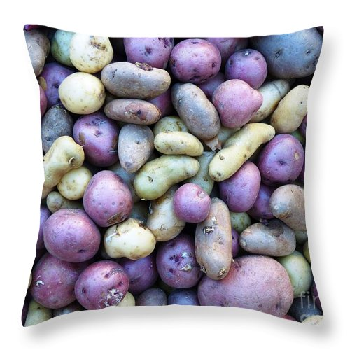Potatoes Throw Pillow featuring the photograph Potato Fest by Carlos Amaro