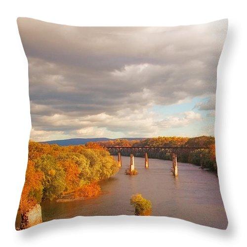 Potomac Throw Pillow featuring the photograph Potomac River by Mick Burkey