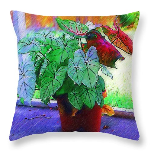 Garden Throw Pillow featuring the photograph Potted Plant by Donna Bentley