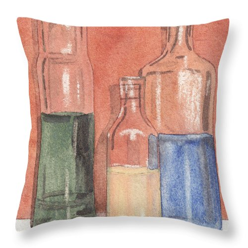 Prescription Throw Pillow featuring the painting Power Failure Prescriptions by Ken Powers
