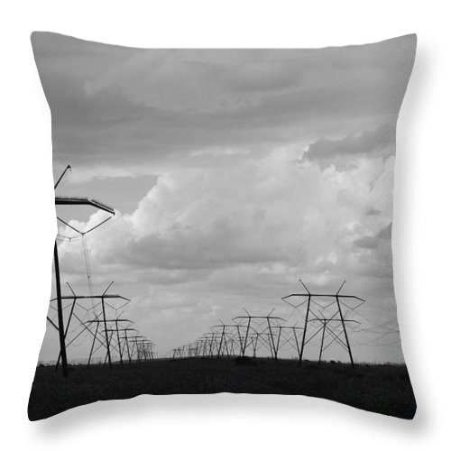 Sky Throw Pillow featuring the photograph Power In The Sky by Rob Hans