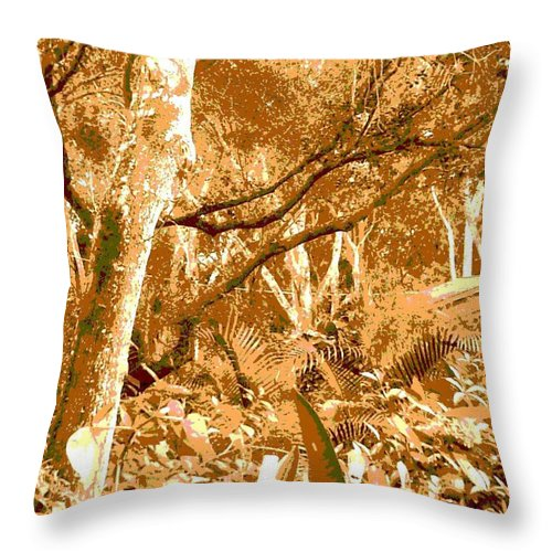 Square Throw Pillow featuring the digital art Power Line by Eikoni Images