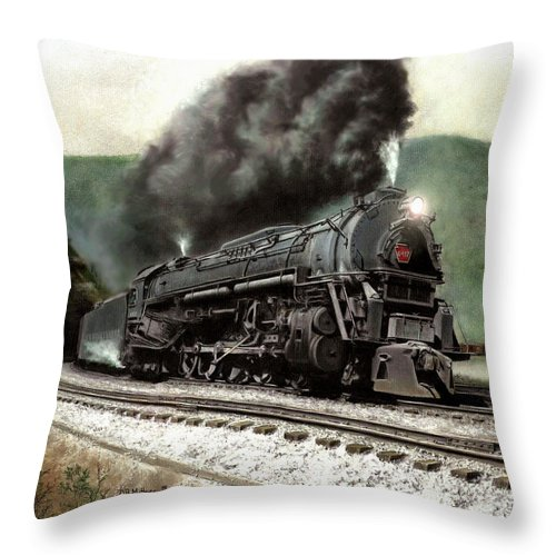 Throw Pillow featuring the painting Power On The Curve by David Mittner