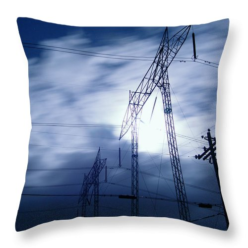 Clouds Throw Pillow featuring the photograph Power Surge by Peter Piatt