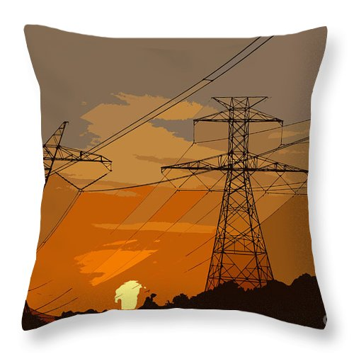 Power Throw Pillow featuring the painting Power To The People by David Lee Thompson