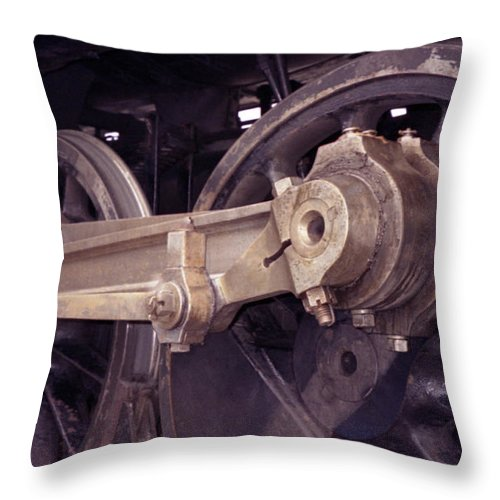 Trains Throw Pillow featuring the photograph Power Train by Richard Rizzo