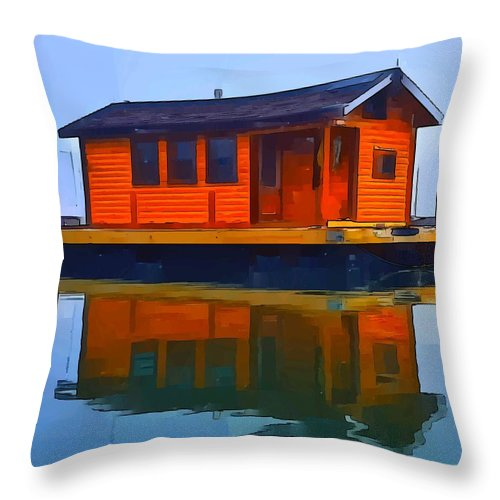 Throw Pillow featuring the photograph PR1 by Jeffrey Canha