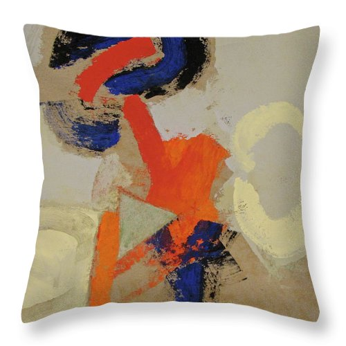 Abstract Painting Throw Pillow featuring the painting Practice by Cliff Spohn