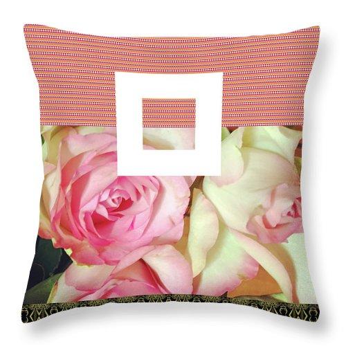 Roses Throw Pillow featuring the digital art Pradada by Ceil Diskin