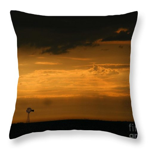 Storms Throw Pillow featuring the photograph Prairie Storm by Marilyn Smith