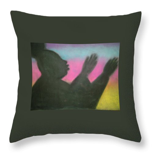 Drawing Throw Pillow featuring the drawing Praise Thy Name by Jan Gilmore
