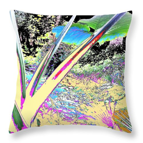 Square Throw Pillow featuring the digital art Prana by Eikoni Images