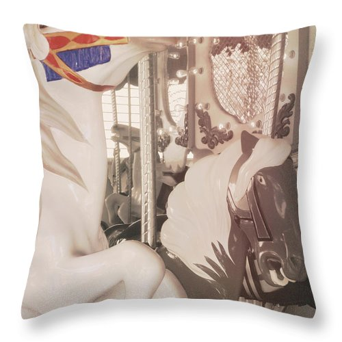Horse Throw Pillow featuring the photograph Prancing Pony by JAMART Photography