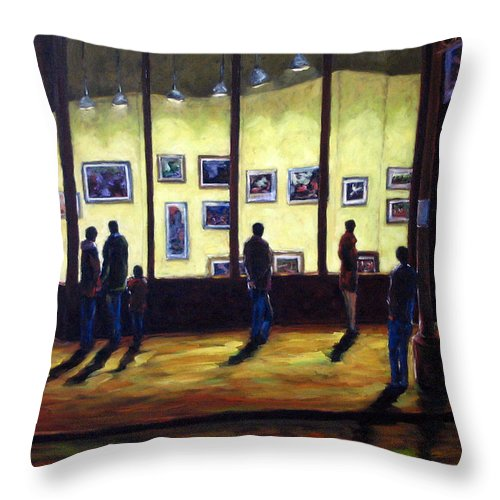 Urban Throw Pillow featuring the painting Pranke by Richard T Pranke