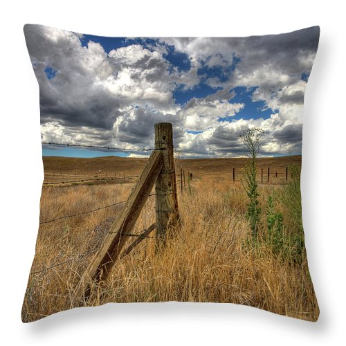 Clouds Throw Pillow featuring the photograph Prarie Sky by Peter Tellone
