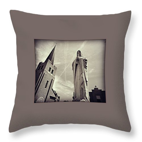 Throw Pillow featuring the photograph Pray by Alan Thorpe
