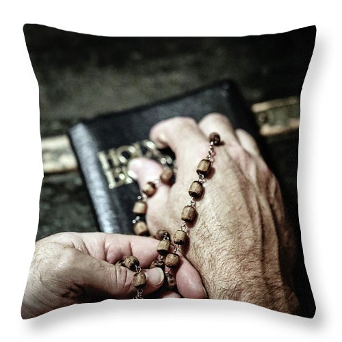 Beads Throw Pillow featuring the photograph Praying For A Change by Trish Mistric