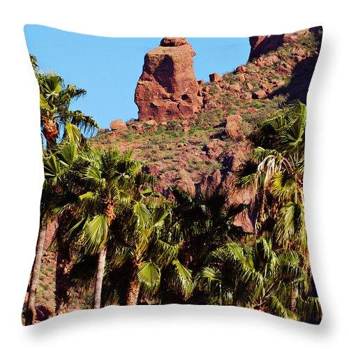 Mountain Throw Pillow featuring the photograph Praying Monk by Jill Reger