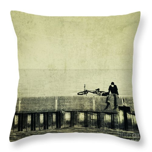 Man Throw Pillow featuring the photograph Praying To A God I Dont Believe In by Dana DiPasquale