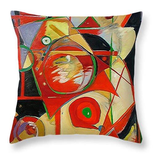 Cross Throw Pillow featuring the painting Precarious Balance by Gary Coleman