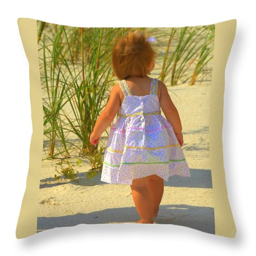 Baby Throw Pillow featuring the photograph Precious by Sheri Bartoszek