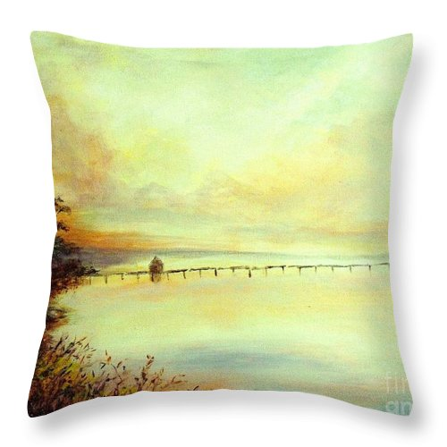 Canvas Prints Throw Pillow featuring the painting Prelude by Madeleine Holzberg