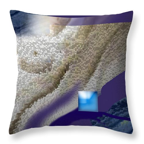 Abstract Throw Pillow featuring the digital art Prelude To A Dream by Steve Karol