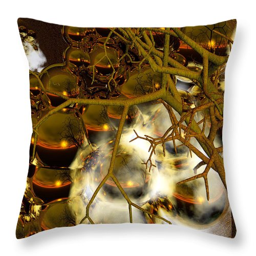 Sphere Throw Pillow featuring the digital art Premonitions by Robert Orinski