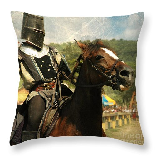 Medieval Throw Pillow featuring the photograph Prepare The Joust by Paul Ward