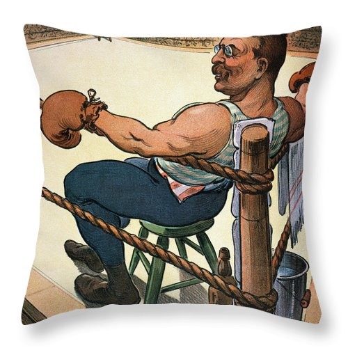 1904 Throw Pillow featuring the photograph President Nomination, 1904 by Granger