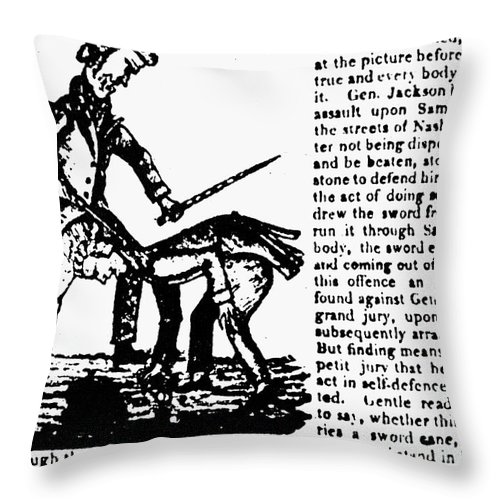 1828 Throw Pillow featuring the photograph Presidential Campaign, 1828 by Granger