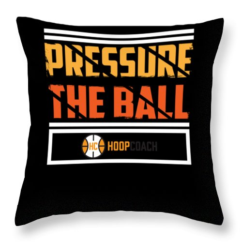 Basketball-apparel Throw Pillow featuring the digital art Pressure The Ball Hoop Coach Basketball by Passion Loft