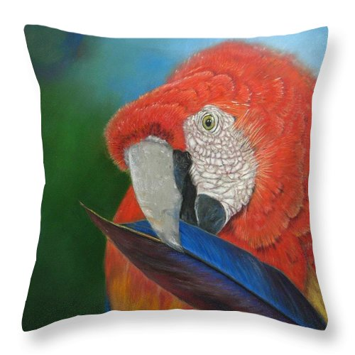 Bird Throw Pillow featuring the painting Presumida by Ceci Watson