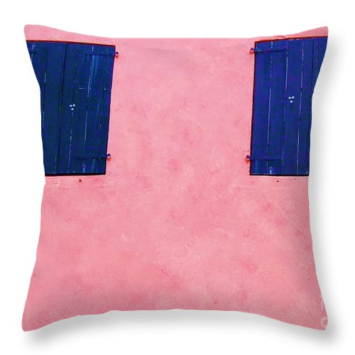 Shutters Throw Pillow featuring the photograph Pretty In Pink by Debbi Granruth