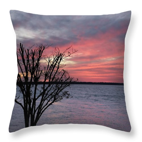 Sunset Throw Pillow featuring the photograph Pretty In Pink by Phill Doherty