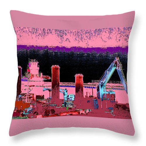 Abstract Throw Pillow featuring the photograph Pretty In Pink by Rachel Christine Nowicki