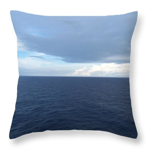 Canvas Throw Pillow featuring the photograph Pretty Water by Vell Thomas