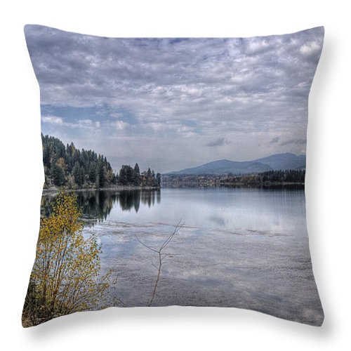 Throw Pillow featuring the photograph Priest River Panorama 8 by Lee Santa