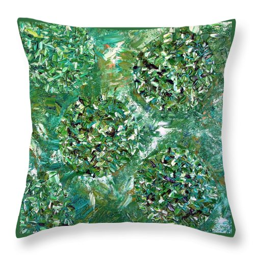 Contemporary Throw Pillow featuring the painting Primal by Dawn Hough Sebaugh