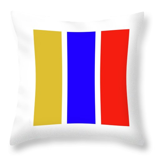 Primary Colors Throw Pillow featuring the digital art Primary by Charles Stuart