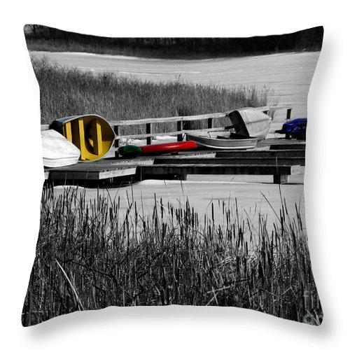 Yellow Throw Pillow featuring the photograph Primary Colors How Plain Life Could Be Without by September Stone