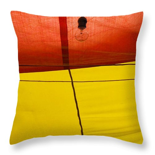 Bulb Throw Pillow featuring the photograph Primary Light by Skip Hunt
