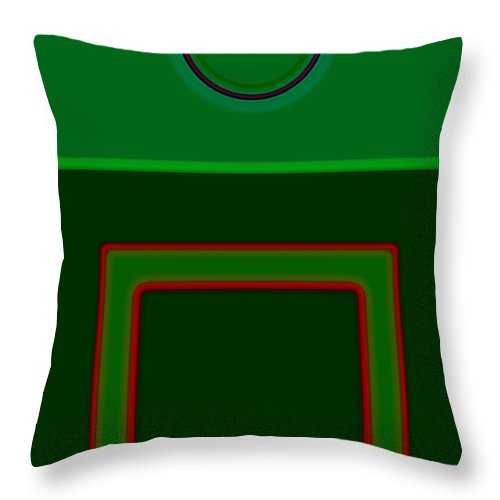 Classical Throw Pillow featuring the digital art Primavera by Charles Stuart
