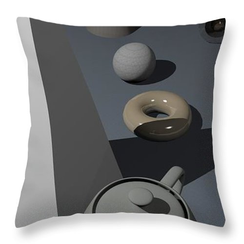 Primitives Throw Pillow featuring the digital art Primitives by James Barnes