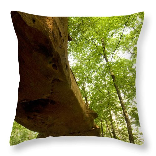 Landscape Throw Pillow featuring the photograph Princess Arch From Below by Amanda Kiplinger
