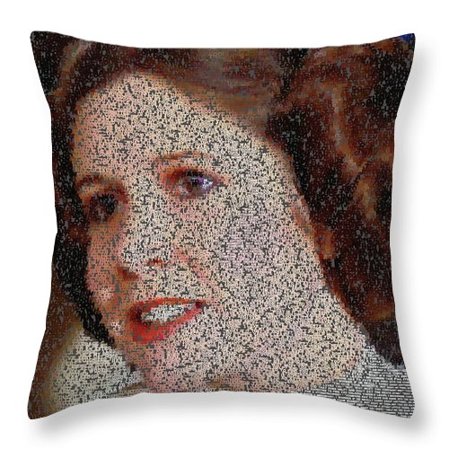 Princess Leia Quotes Mosaic Throw Pillow